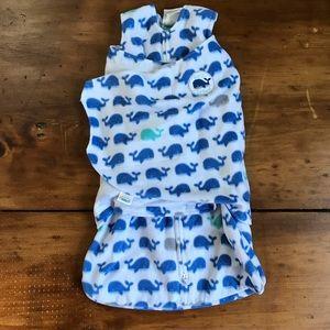 Newborn Whale Halo SleepSack Swaddle